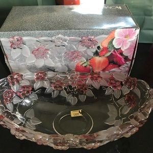 Vintage Home Beautiful Glass Serving Bowl